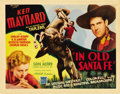 "Movie Posters:Western, In Old Santa Fe (Mascot, 1934). Title Lobby Card (11"" X 14""). ..."