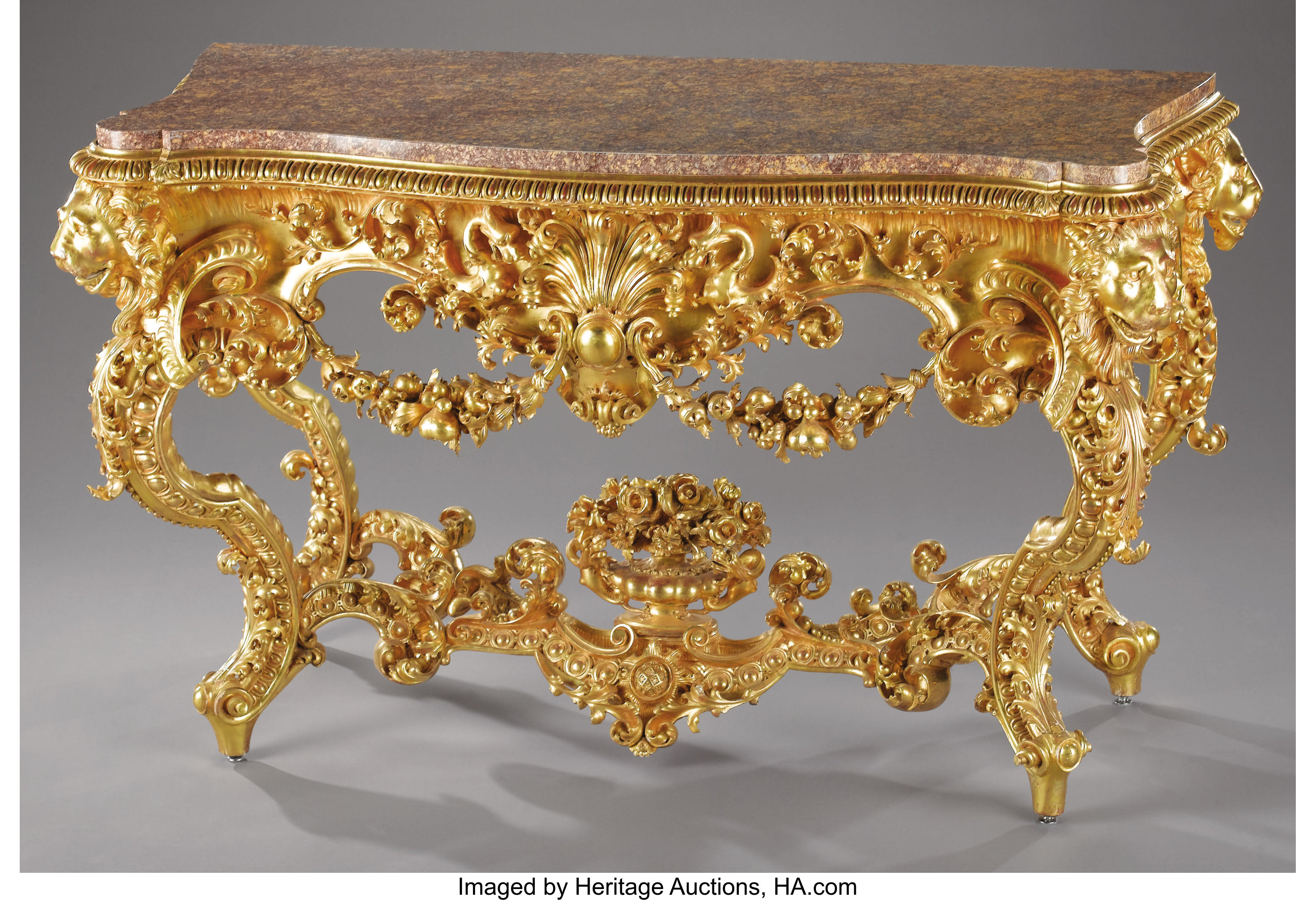 Rococo Style Giltwood Console Table