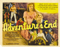 "Movie Posters:Adventure, Adventure's End (Universal, 1937). Title Lobby Card and Lobby Card(11"" X 14""). ... (Total: 2 Items)"
