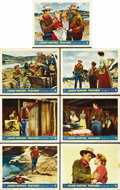 """Movie Posters:Western, Hondo (Warner Brothers, 1953). Lobby Cards (7) (11"""" X 14""""). ... (Total: 7 Items)"""