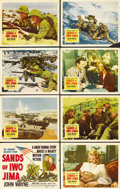 "Movie Posters:War, Sands of Iwo Jima (Republic, 1950). Lobby Card Set of 8 (11"" X14""). ... (Total: 8 Items)"