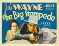 "Movie Posters:Western, The Big Stampede (Vitagraph, 1932). Title Lobby Card (11"" X 14"")...."