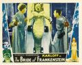 "Movie Posters:Horror, The Bride of Frankenstein (Universal, 1935). Lobby Card (11"" X 14""). ..."