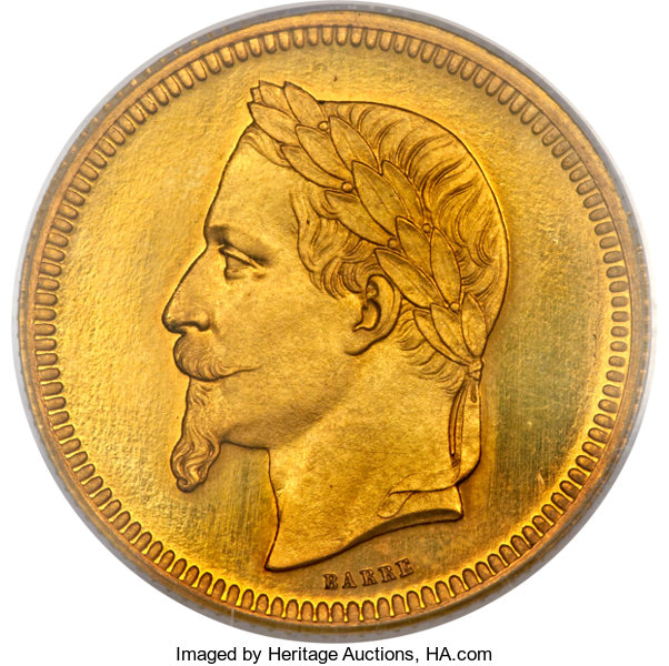 France Napoleon Iii Gold Proof Essai 5 Dollars 25 Francs 1867pr64 Pcgs