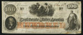 Confederate Notes:1862 Issues, T41 $100 1862 PF-54 Cr. 327A.. ...