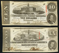 Confederate Notes:1863 Issues, A Pair of 1863 Notes. ... (Total: 2 notes)