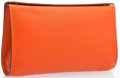 "Luxury Accessories:Bags, Hermes Orange H Chevre Leather Karo GM Clutch Bag with PalladiumHardware. Very Good to Excellent Condition. 7"" Width x 4...."