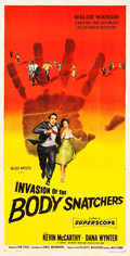"Movie Posters:Science Fiction, Invasion of the Body Snatchers (Allied Artists, 1956). Three Sheet (41"" X 81"").. ..."