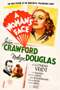 "Movie Posters:Drama, A Woman's Face (MGM, 1941). One Sheet (27.5"" X 41"") Style D.. ..."