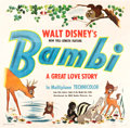 "Movie Posters:Animation, Bambi (RKO, 1942). Six Sheet (79"" X 81"").. ..."