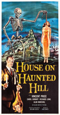 "Movie Posters:Horror, House on Haunted Hill (Allied Artists, 1959). Three Sheet (41"" X81"").. ..."