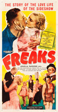"Movie Posters:Horror, Freaks (Excelsior, R-1949). Three Sheet (41"" X 80"").. ..."