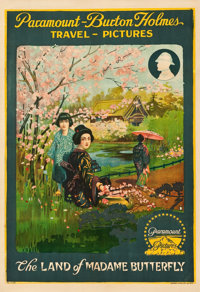 """Burton Holmes Travel Pictures (Paramount, 1917). Poster (28.25"""" X 41"""") """"The Land of Madame Butterfly.&quo..."""
