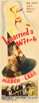 "I Married a Witch (United Artists, 1942). Insert (14"" X 36"")"