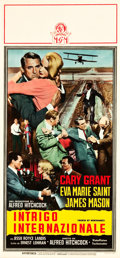 "Movie Posters:Hitchcock, North by Northwest (MGM, 1959). Italian Locandina (12.75"" X27.5"").. ..."