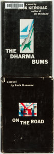 Books:Fiction, Jack Kerouac. On the Road [together with:] The Dharma Bums. Viking Press, 1957 and 1958. First Editions.... (Total: 2 Items)