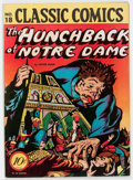 Golden Age (1938-1955):Classics Illustrated, Classic Comics #18 The Hunchback of Notre Dame - Original Edition(Gilberton, 1944) Condition: FN+....