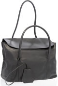 "Luxury Accessories:Bags, Hermes Black Swift Leather Initiale Bag. Very Good to ExcellentCondition. 13"" Width x 10"" Height x 5"" Depth, 10""Hand..."