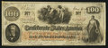 Confederate Notes:1862 Issues, T41 $100 1862 PF-50 Cr 325.. ...