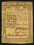 Colonial Notes:Pennsylvania, Pennsylvania October 1, 1773 50s Very Fine-Extremely Fine.. ...
