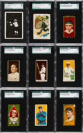 """Baseball Cards:Lots, 1900's - 1910's """"T"""" Tobacco Baseball Type Card Collection (16). ..."""