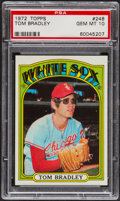 Baseball Cards:Singles (1970-Now), 1972 Topps Tom Bradley #248 PSA Gem Mint 10....