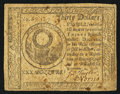Colonial Notes:Continental Congress Issues, Continental Currency November 2, 1776 $30 Very Fine.. ...