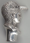 Silver Smalls:Other , An Austrian Silver Cane Handle: Chantilly, Vienna, Austria,circa 1850. Marks: (3-dog head-A), TP . 3 inches hig...
