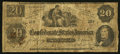Confederate Notes:1862 Issues, T47 $20 1862 PF-1 Cr. 345.. ...