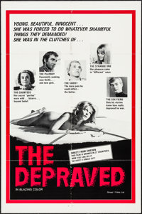 """The Depraved & Others Lot (Group 1, 1976). One Sheets (3) (27"""" X 41"""") & Photos (8) (8"""" X 10""""..."""