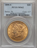 Liberty Double Eagles: , 1895-S $20 MS62 PCGS. PCGS Population (2207/1079). NGC Census: (2389/828). Mintage: 1,100,000. Numismedia Wsl. Price for pr...