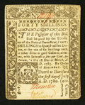 Colonial Notes:Connecticut, Connecticut July 1, 1780 40s Very Fine-Extremely Fine.. ...
