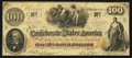 Confederate Notes:1862 Issues, T41 $100 1862. PF-5 CR-315. ...