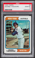 Baseball Cards:Singles (1970-Now), 1974 Topps George Theodore #8 PSA Gem Mint 10 - Pop Four....