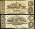 Confederate Notes:1863 Issues, T59 $10 1863 PF-35 Cr. 444.. T59 $10 1863 PF-1 Cr. 445A.. ... (Total: 2 notes)