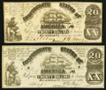 Confederate Notes:1861 Issues, CT18/107A Counterfeit $20 1861.. CT18/113 Counterfeit $20 1861.. ... (Total: 2 notes)