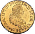 Chile, Chile: Charles III gold 8 Escudos 1763 So-J AU58 NGC,...
