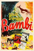 """Movie Posters:Animation, Bambi (RKO, R-1948). One Sheet (27"""" X 41"""").. ..."""