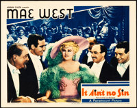 """Belle of the Nineties (Paramount, 1934). Lobby Card (11"""" X 14""""). Pre-release Title: """"It Ain't No Sin.&quo..."""