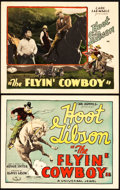"Movie Posters:Western, The Flyin' Cowboy (Universal, 1928). Title Lobby Card & Lobby Card (11"" X 14"").. ... (Total: 2 Items)"