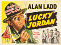 "Movie Posters:Crime, Lucky Jordan (Eros, R-1950s). British Quad (30"" X 40"").. ..."