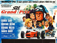 "Grand Prix (MGM, 1967). British Quads (2) (30"" X 40"") Style A and Style B. ... (Total: 2 Items)"