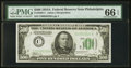 Small Size:Federal Reserve Notes, Fr. 2202-C $500 1934A Federal Reserve Note. PMG Gem Uncirculated 66 EPQ.. ...