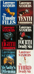 Books:Mystery & Detective Fiction, [Lawrence Sanders]. Group of Six SIGNED/INSCRIBED Titles. G. P.Putnam's Sons, [various dates]. All signed or inscribed by...(Total: 6 Items)