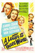 "Movie Posters:Drama, A Letter to Three Wives (20th Century Fox, 1949). One Sheet (27"" X41"").. ..."