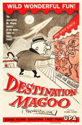 "Movie Posters:Animation, Destination Magoo (Columbia, 1954). One Sheet (27"" X 41"").. ..."