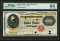 Large Size:Gold Certificates, Fr. 1225c $10,000 1900 Gold Certificate PMG Choice Uncirculated64.. ...