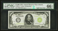 Small Size:Federal Reserve Notes, Fr. 2211-F $1,000 1934 Light Green Seal Federal Reserve Note. PMG Gem Uncirculated 66 EPQ.. ...