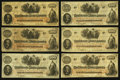 Confederate Notes:1862 Issues, T41 $100 1862 Ten Examples.. ... (Total: 10 notes)