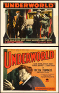"Movie Posters:Crime, Underworld (Paramount, 1927). Title Lobby Card and Lobby Card (11""X 14"").. ... (Total: 2 Items)"